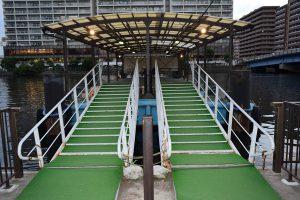 朝潮小型船乗り場の入り口