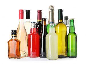 並べられたお酒の瓶
