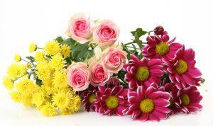 色とりどりの美しい花束