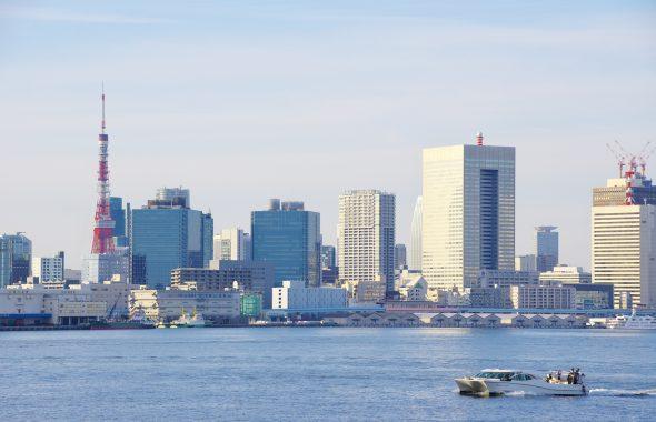 東京タワーや大きなビル群