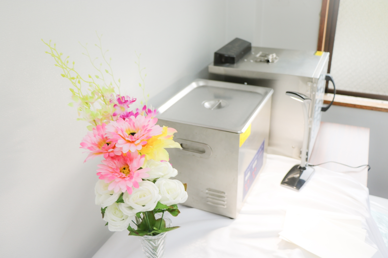 特殊な洗浄機と乾燥機