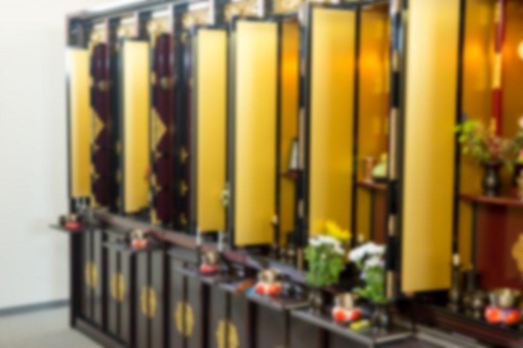 並べられた仏壇