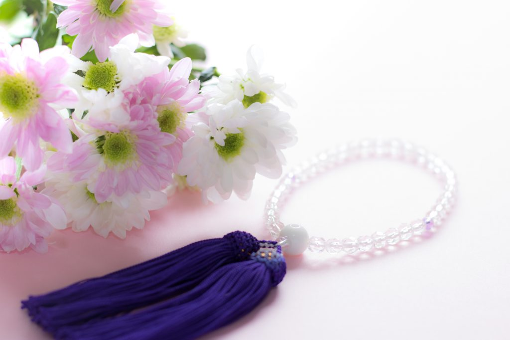 数珠とお花
