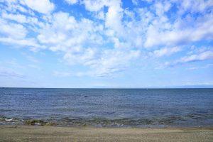 晴れた日の広い海