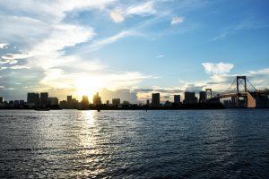 夕方の東京湾