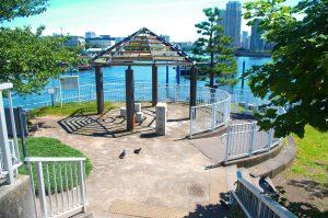 桟橋近くにある公園
