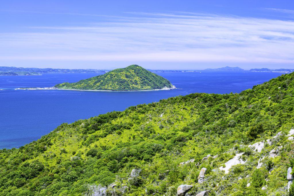 広い海と山