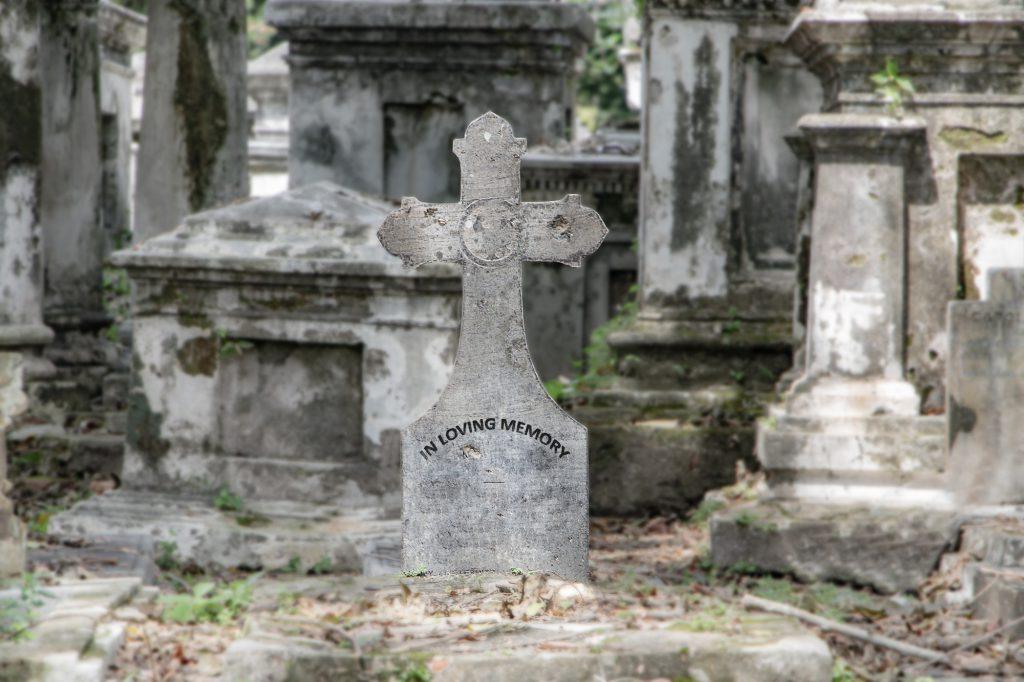 年季がある墓石