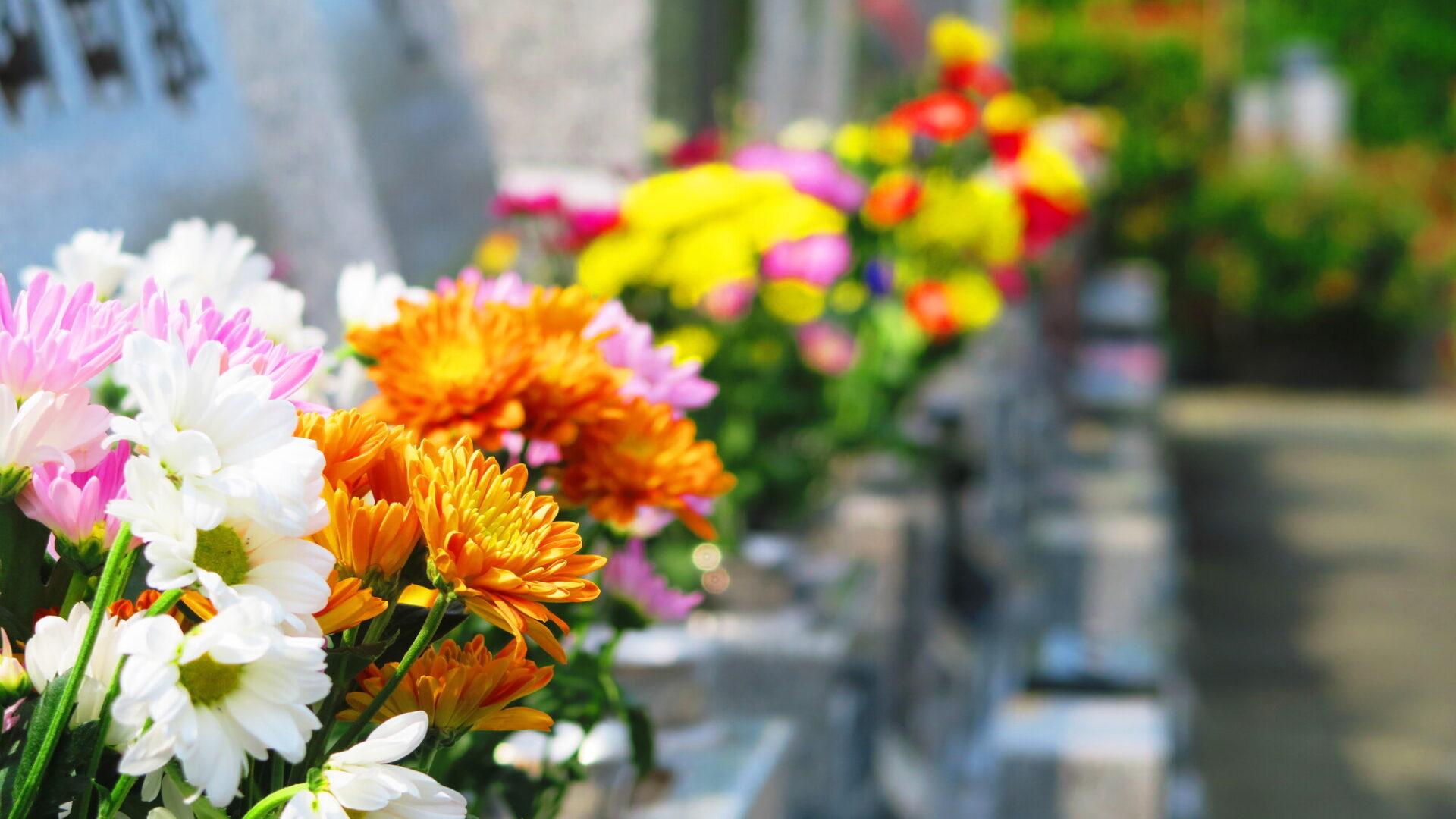 お墓のお花